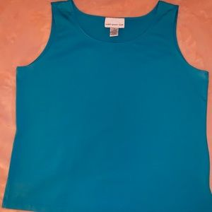 Blue Susan Graver Stretch Tank
